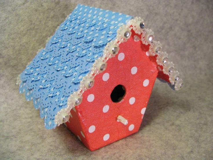Papier mache - domki. Mini Bird Houses.