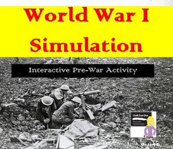 World War I Simulation – Pre-War Interactive Activity - This is an engaging and interactive simulation where students are assigned fictitious countries and have to use critical thinking strategies to come up with the best strategy to meet their country's goals.