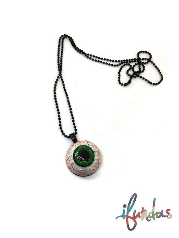 Eyeball necklace ooak resin jewellery zombie walking dead eye eyeball necklace ooak resin jewellery zombie walking dead eye pendant aloadofball Images