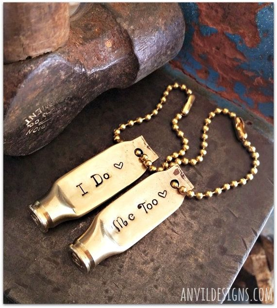 I do  Me Too Love With a Bullet Keychain Bullet by AnvilDesigns