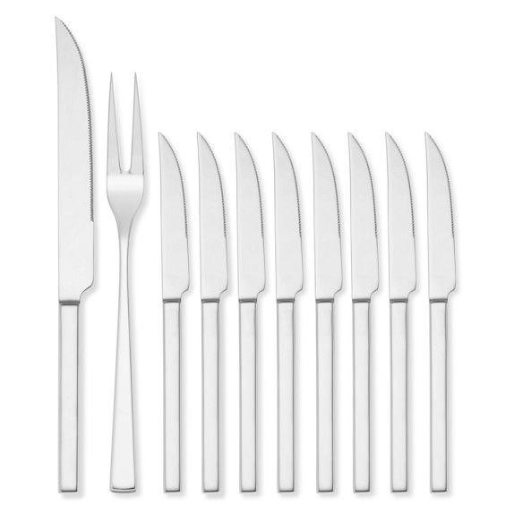 Wüsthof Stainless-Steel 10-Piece Steak & Carving Knife Set #williamssonoma