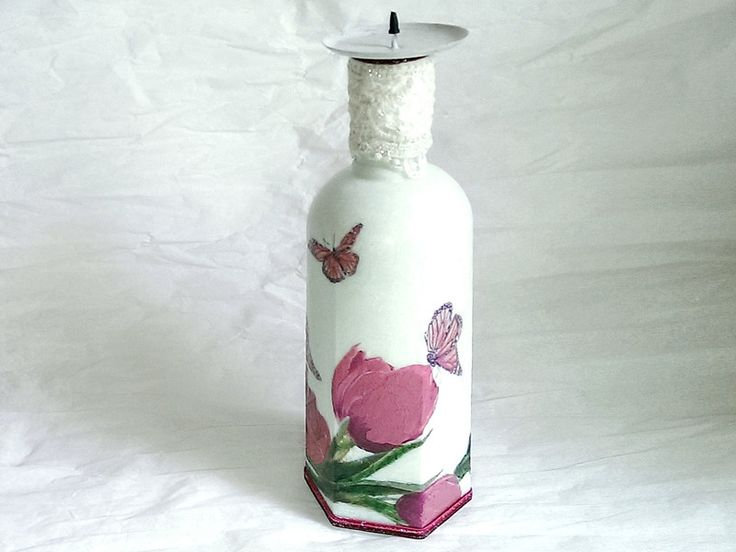 Unikatowy świecznik z recyklingu 1 w SrokaArt na DaWanda.com