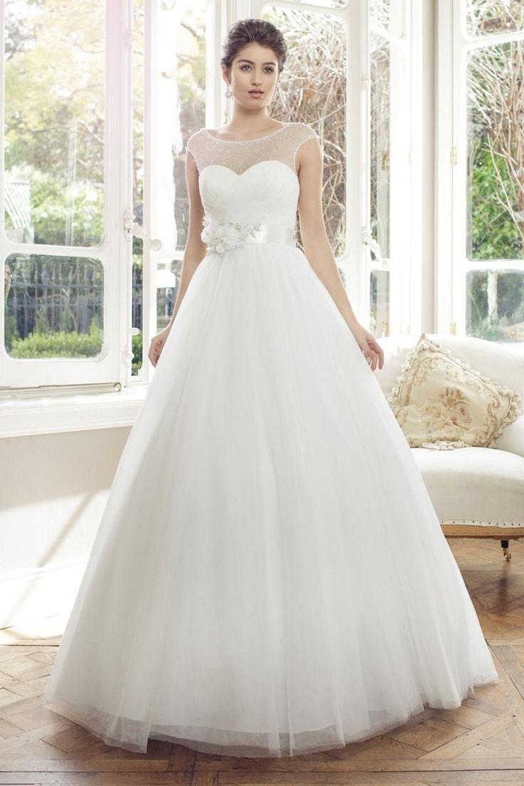 4385 besten wedding dress bilder auf pinterest wedding dresses with sheer illusion neckline ombrellifo Image collections
