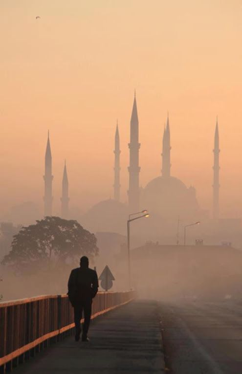 Cool photo. The Sultan Ahmed Mosque, Istanbul, Turkey…