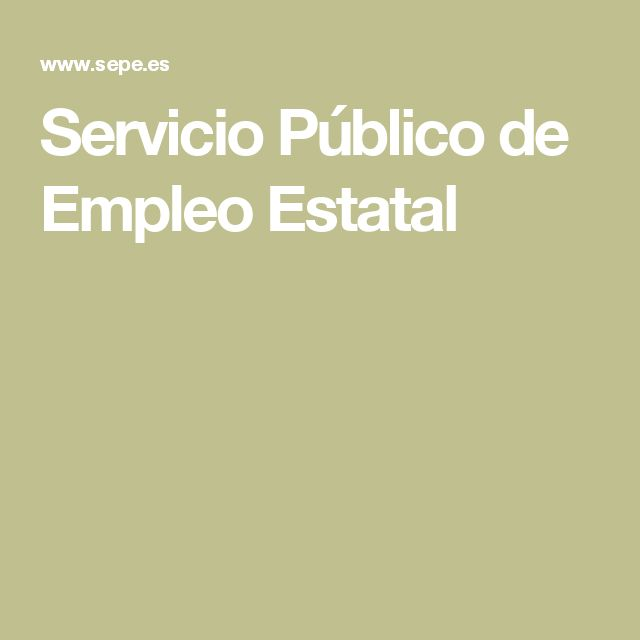 Servicio Público de Empleo Estatal