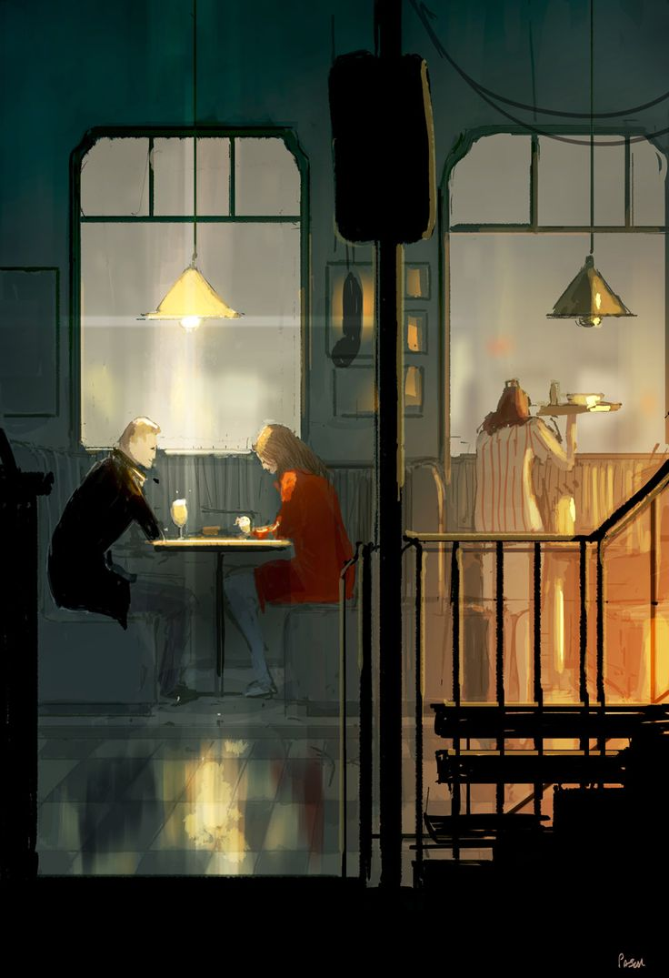 Diner. This one is just a lunch doodle to unwind a bit #pascalcampion
