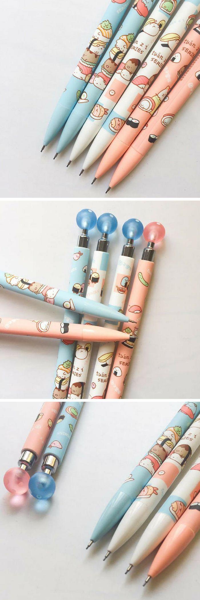 Sumikko Gurashi Sushi Mechanical Pencils - Cute Kawaii School Supplies! I LOVE kawaii Japanese stationery like these and I will be needing all these pens immediately please :D  #ad #pencils #pens #stationery #kawaii