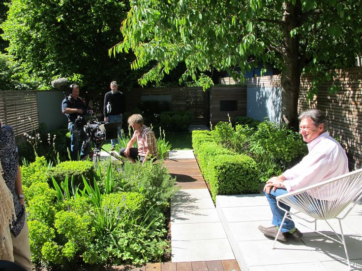 Design Your Garden design your garden patio to suit your style with these suggestions for unique materials Alan Titchmarsh Filming Love Your Garden For Itv North London Garden Designed By Lucy Willcox