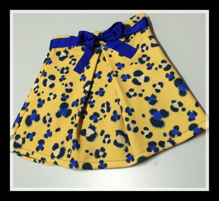 Falda de neopreno de animal print www.nuriaordiales.com