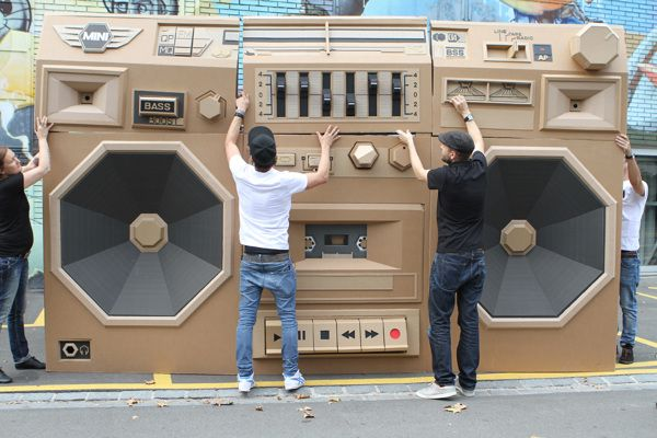 Mini - Ghettoblaster / The Paper Stuff by Bartek Elsner, via Behance