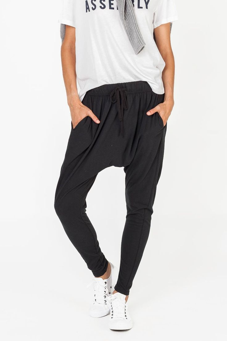 STUDIO PANT BLACK - PANTS & SHORTS - SHOP WOMENS Assembly Label