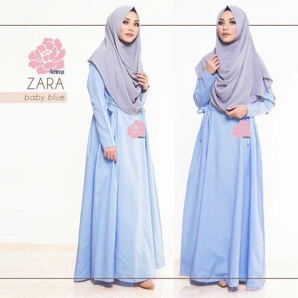 Gamis Amima Zara Dress Baby Blue - baju muslim wanita baju muslimah Untukmu yg cantik syari dan trendy . . Size: S ---> LD 94   PJG 137 M ---> LD 100   PJG 140 L ---> LD 106   PJG 140 . . Detail : - Material : COTTON bahannya flowy adem perfect for mix and match dengan sabina instan motif mu! - Dress kerah bulat  Zipper depan perfect for #busuifriendly #nursingfriendly #gamisbusuifriendly - Kantong di kanan dan kiri untuk menyimpan dompet / HP - Tali pinggang kanan kiri adjustable bisa di…