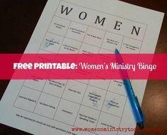 Icebreaker: Women's Ministry Bingo (Free Printable) - Women's Ministry Toolbox