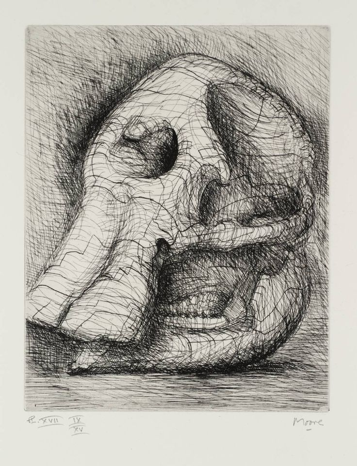 Henry Moore: Elephant Skull Plate XVII, 1969. © The Henry Moore Foundation, All Rights Reserved, DACS 2014