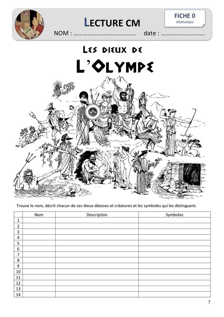 Littérature : la mythologie