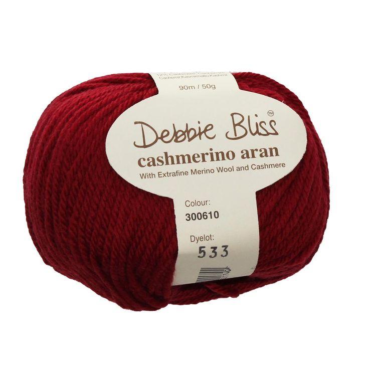 Cashmerino Aran - #610 RUBY - 50g / 90m - Wool & Blends – TUPPY'S AUSSIE FABRICS