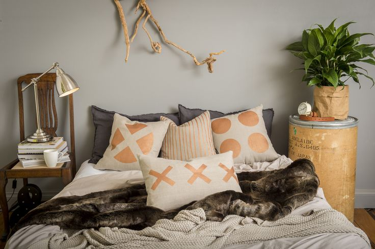 Ivy & Lil's bronze cushions bring a touch of bling to any room