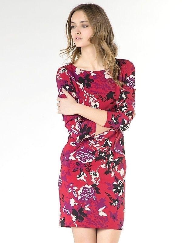 Vestido Patrizia Pepe floral rojo