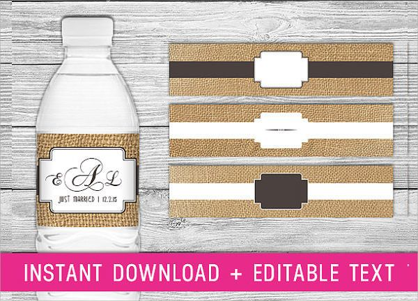 Water Bottle Label Template Free Word Beautiful Water Bottle Label Template Printable Water Bottle Labels Water Bottle Labels Free Water Bottle Labels Template
