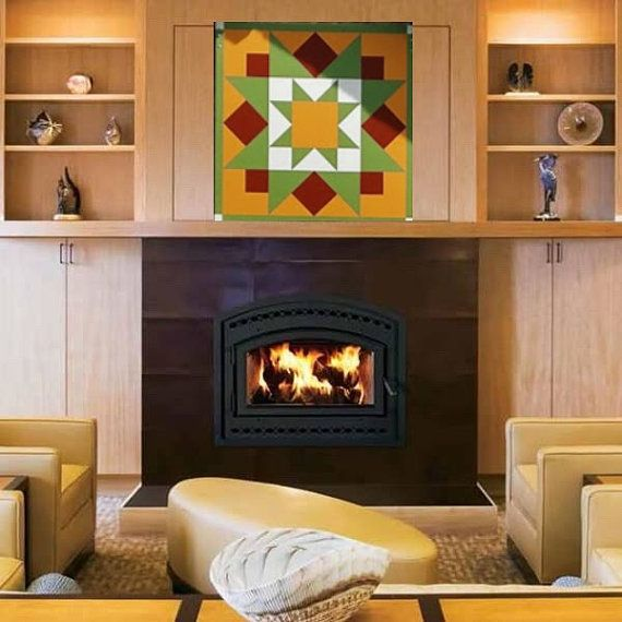 barn quilt early riser barn art painted quilt colors fireplace frontswood - Fireplace Fronts