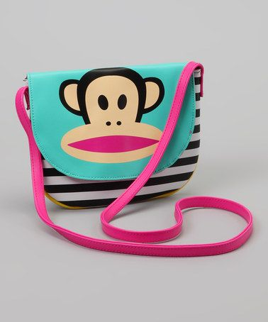 Take a look at this Blue & Pink Stripe Crossbody Bag by Paul Frank on #zulily today!