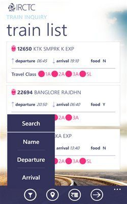 Official IRCTC app for Windows Phone now available – details, download (User Guide/Manual) – offers services like checking reservation status, train schedules, train routes, availability of tickets, cancellation, booking history.