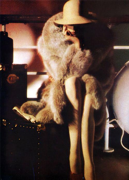 Anjelica Huston for Yves Saint Laurent, 1973.
