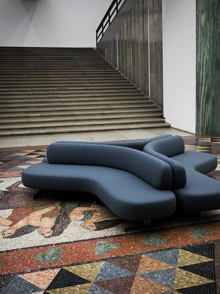 Sectional modular #sofa STONE by Tacchini Italia Forniture | #design PearsonLloyd