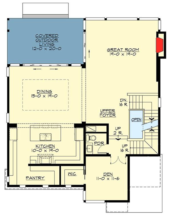 Five Bedroom Contemporary with Finished Lower Level - 23636JD   Architectural Designs - House Plans