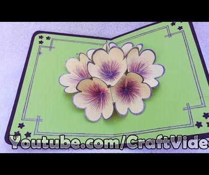 How to Make 3D Flower Pop Up Card