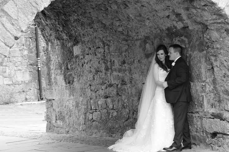 The couple under the Spanish Arch