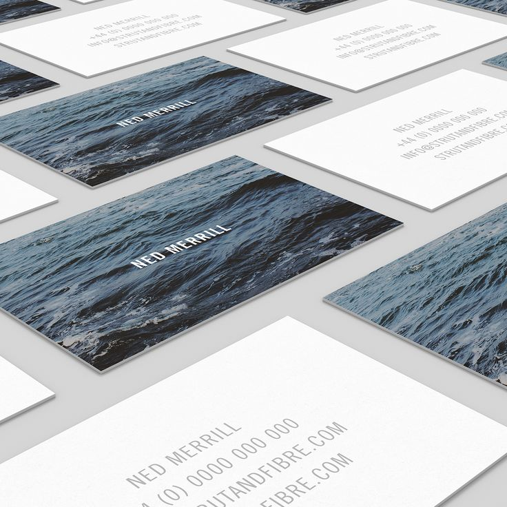 Merrill – one of our Texture business card templates available to customise and order on our site.