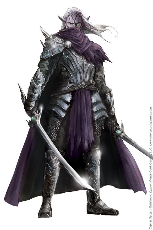 Elfo-negro, guerreiro.