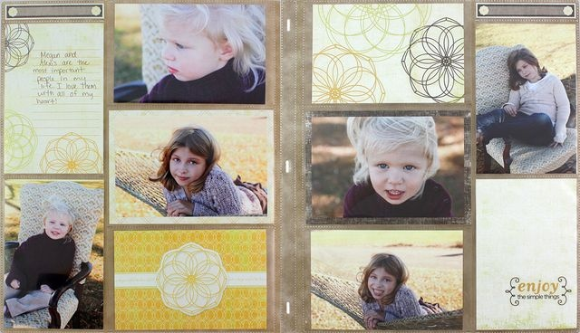 Gratitude Photo Album Accents Scrapbook Page Layout http://chrisscrafterscorner.blogspot.com/