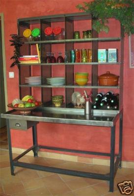 Cuisine casier de tri postal d co loft industriel la - Cuisine loft industriel ...