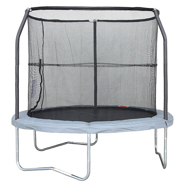 8FT Trampoline With Enclosure + Charcoal Mat $99 on sale