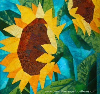 Sunflowers Quilt, design by Eileen Sullivan, pieced and quilted by Julie Baird