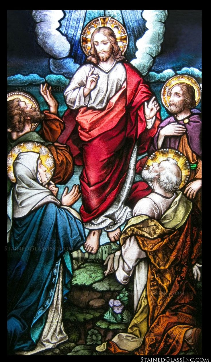 Franklin art glass studios inc clear cotswold glass 3 320 -  Colorful Ascension Stained Glass Window