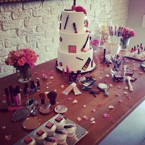 43 Best Images About Makeup Party Inspirations On Pinterest | Diy Makeup Vintage Barbie Party ...