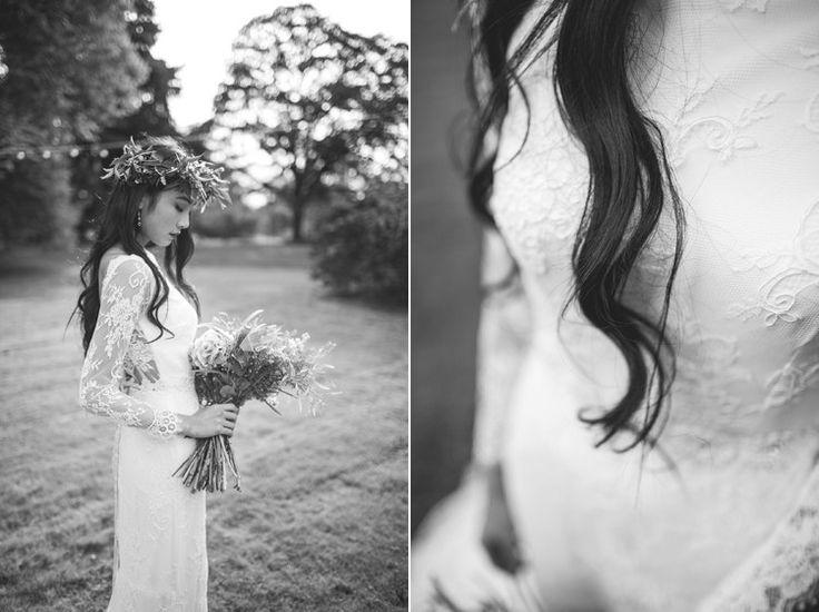 Feminine Bohemian Beautiful Bridal Ideas: Gemma Sargent Sienna Boho Lace Bridal Gown http://www.photographsbyeve.co.uk/