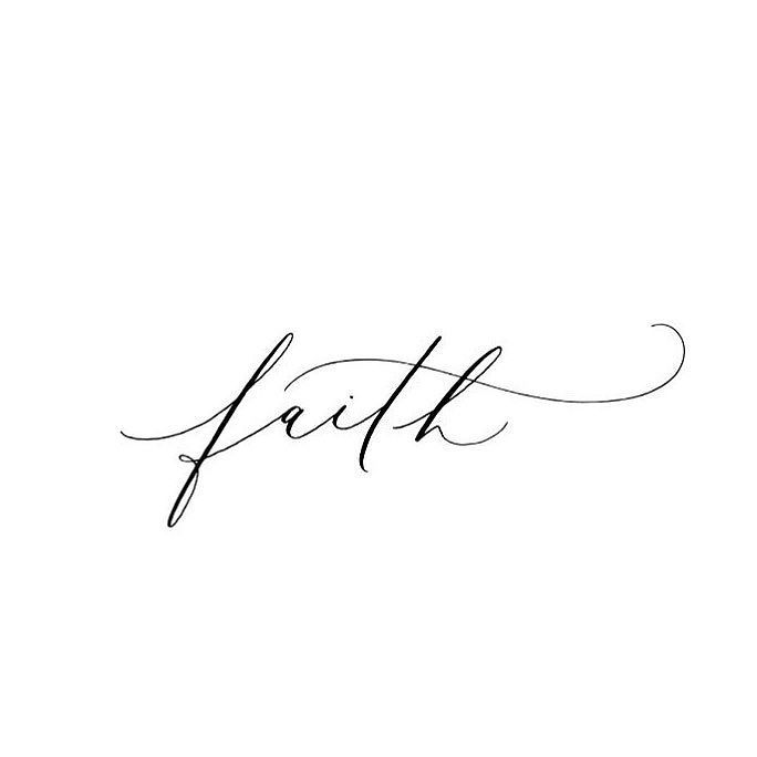 Have faith this simple calligraphy designed by