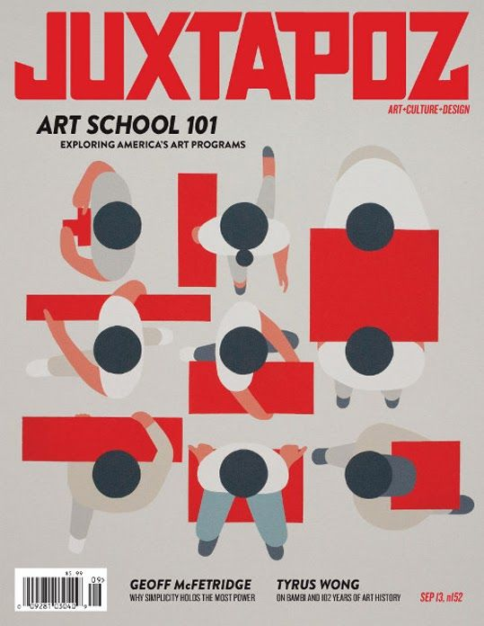 geoff mcfetridge Juxtapoz cover design / illustration