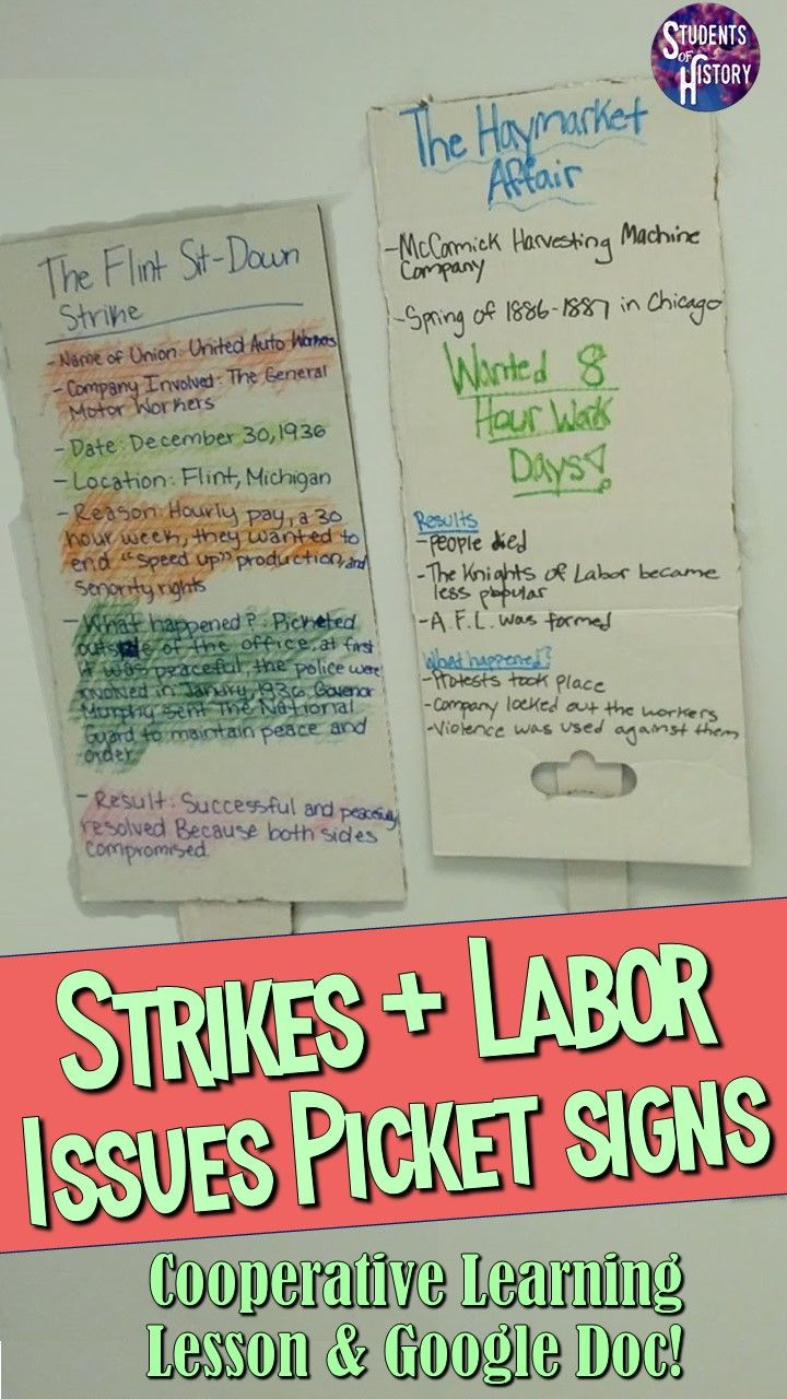 Labor Strikes Poster Project Teaching History Teaching Us History Teaching American History