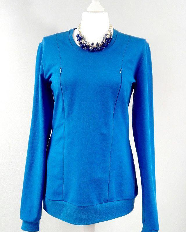 Bluzy do karmienia mogą być również w wersji eleganckiej np z naszyjnikiem ❤#sewing #szycie #ubraniadokarmienia #pregnant #rodzew2017 #ciaza #instadziecko #instababy #instamatki #instmamy #instamama #kp #karmieniepiersia