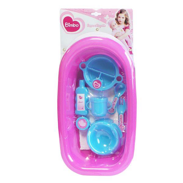 Un classico gioco per tutte le bambine: dare la pappa e fare il bagnetto. C'è anche il pannolino! Confezione a solo € 6,90!!!