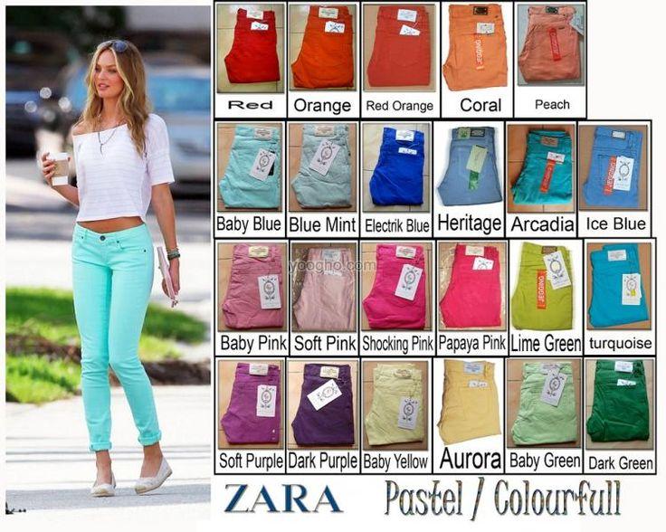 Jegging Zara Pastel/ colourfull