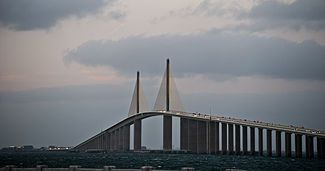 Sunshine Skyway on Tampa Bay. I went on this by accident thanks to my GPS...