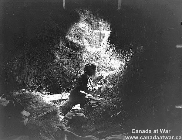Canadians at Falaise - Private G.O. Parenteau of the South Saskatchewan Regiment. 11 Aug 1944, Rocquancourt, France.
