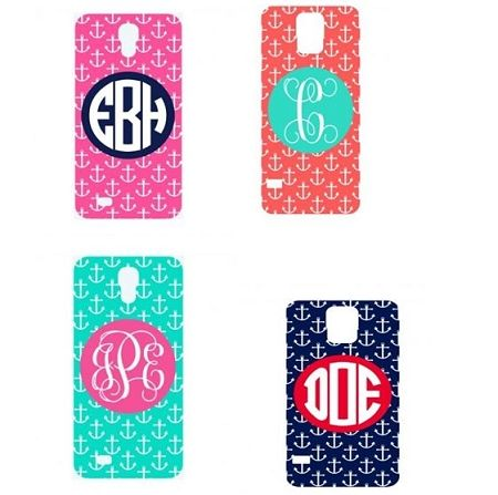 Monogrammed Anchor Phone Case