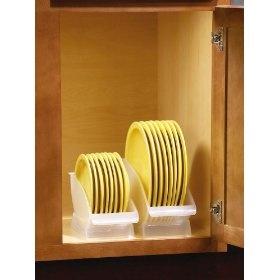 space-saving plate storage cradles